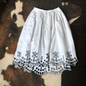 Anthropologie Moulinette Soeurs Black White Skirt